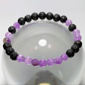 Jewelry - Brazil Amethyst & Lava Rock Oil Diffuser Bracelet!